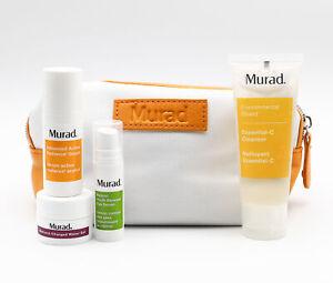 Murad Boost Of Radiance Set Serum x2, Water Gel, Cleanser NEW Damaged Packaging