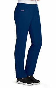 Grey's Anatomy #4232 Elastic Drawcord Waist Scrub Pant in Indigo Size M