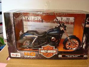 Harley Davidson 2004 Dyna Super Glide Sport Blue 1:12 Maisto Boxed