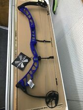 Elite Victory X 60lbs. 29 Inch Draw Cobalt Blue Riser Black Limbs Right Hand