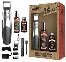 Wahl 9916-803 Cordless Beard Trimmer, 30ml Beard Oil & 100ml Beard Wash Gift Set