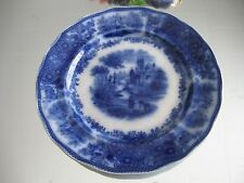 EXCELLENT ANTIQUE C.1800'S VICTORIAN BURGESS LEIGH  NON PAREIL FLOW BLUE PLATE