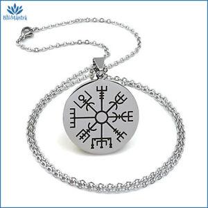 Amuleto magico talismano portafortuna celtico collana in acciaio uomo donna da