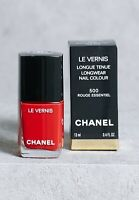Chanel LE VERNIS Nail Polish 500 Rouge Essentiel 13 ml / 0.4 Fl. Oz. New in Box