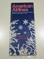 American Airlines Timetable  December 1, 1974 =