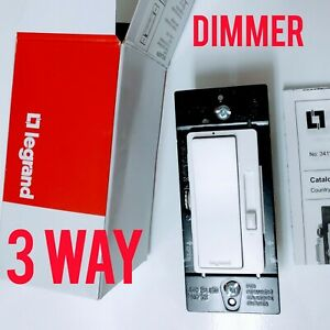 NEW LEGRAND DIMMER 3-WAY,  WHITE, RADIANT PRESET PADDLE ,RHCL453PW, CALIBRATION