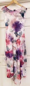 NEW KOMAROV Women's Sleeveless Layered Flowy Midi Floral Dress size M Medium