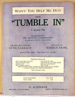 WON'T YOU HELP ME OUT? from TUMBLE IN (1919 MUSICAL) SHEET MUSIC
