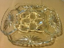 Early American Prescut Deviled Egg Plate Relish Platter Star of David