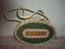 alte Kunststoff Tasche wetterfeste ovale Form 60er-70er Jahre-