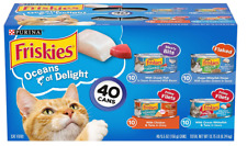 Purina Friskies Canned Wet Cat Food 40 ct. Variety Packs Oceans Delight Variety