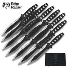 "Ridge Runner Tornado 12 Piece Throwing Knife/Knives Dagger Set Dual Edge 6"" OA"