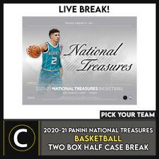 2020-21 Panini National Treasures baloncesto 2 Caja romper #B634 - Elige Tu Equipo