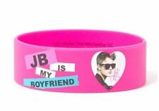 JB IS MY BOYFRIEND Justin Bieber Bracelet Wristband Pink Official New