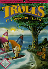 TROLLS ON TREASURE ISLAND Nintendo NES Game Cartridge