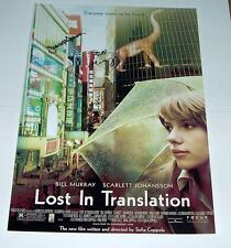 LOST IN TRANSLATION PP SIGNED POSTER 12X8 BILL MURRAY
