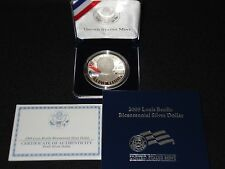 Louis Braille Bicentennial Proof Commerative Silver Dollar