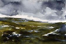 North Yorkshire Moors POSTCARD Steve Greaves Watercolour Art Card Landscape