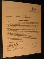 1988 Topps Basebal Card Signed Contract Jeff Dedmon