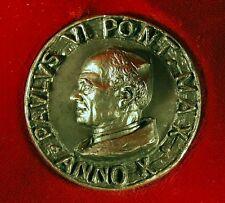 Médaille argent massif 800 ITALIE 1972 Antonio BERTI PAULUS VI ANNO X 60g Milan