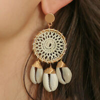 Bohemian Shell Pearl Earrings Beach Ear Stud Dangle Drop Women Jewelry Gift