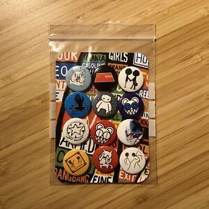 Radiohead RARE OG - 2008 Concert Vintage 12 x Pin Button Badges SET - thom yorke