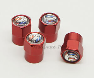 4x Car Logo Decoration Tire Valve Stems Caps Dust Covers Accessories For Buick