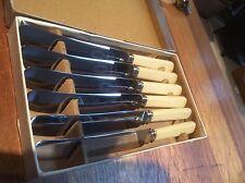 Lot de 6 table de couteaux à dessert en boîte d'origine. W & J un Baxter Ltd Excellent