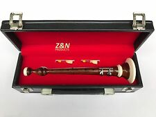 Scottish Bombard Sheesham Wood Chanter, Bombard Chanter + 2 Reeds & Hard Case