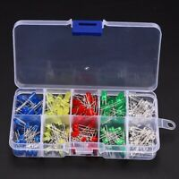 200Pcs 3mm 5mm LED Light White Yellow Red Blue Green Assortment Diodes Kit 1 set