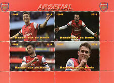 Benin 2014 CTO Arsenal Mesut Ozil 4v M/S Football Soccer Sports Stamps