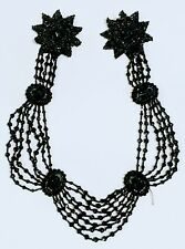 Antique Jet Bead Mourning Necklace or Trim