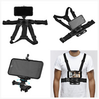 Chest Mount Harness Strap ABS Body Tripod Mount Belt For Phone Camera Shooting