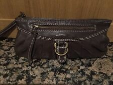 STYLISH TED BAKER DARK BROWN LEATHER WRISTLET BAG   USED BARELY GOOD  CONDITION fc9db90039c16