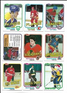 1981-82 Topps Hockey:Lot of 9 different