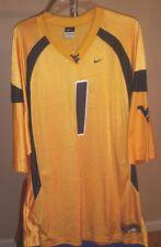 West Virginia Mountaineers NCAA Nike Old Gold #1 2XL Football Jersey