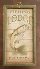 Fishing Lodge Decor 20x10.75""