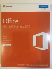 Office Home & Business 2016 32/64 Bit Eurozone Medialess Retail Box T5D-02801