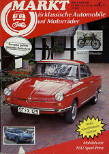 Markt 4/87 1987 Auburn Fiat 500 Honda S 800 Motobécane NSU Sport-Prinz Cyklon