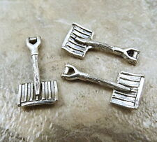 3 Pewter SNOW SHOVEL Charms - 5350