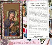 Prayer to Our Mother of Perpetual Help - Gold Trim -Paperstock Holy Card