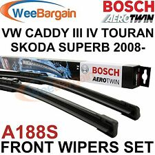 SKODA Superb 2008-VW CADDY III IV Bosch A188S Aerotwin Frente wiper blades set