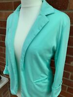 Mint Green FACE FACE Ladies Smart Jacket XL Lined Soft Pockets Blazer