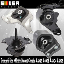 4PCS Engine Mount +Trans Mount Kit for 02-06 Honda CR-V 2.4L Manual Trans