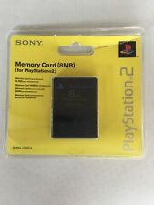 Official Grey SONY Playstation 2 Memory Card 8MB SCPH-10020