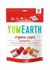 YumEarth Organic Natural Lollipops Fruits Sweets Variety Pack 50 Pops 10.9Oz 1Pk