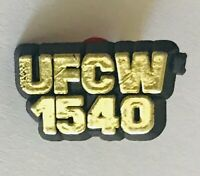 UFCW 1540 United Food & Commercial Workers Union Plastic Pin Badge Vintage (C10)