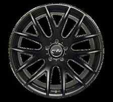 18x8.5 Miro 111 5x112mm +45  Matte Black Wheels Rims Fits VW cc eos golf rabbit