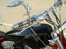 Lady Silhouette Chopper Motorcycle Chrome Mirrors Pair 6690DS