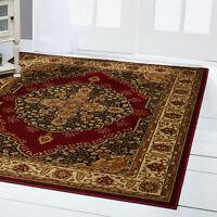 "Red Medallion Oriental Area Rug 8x11 Persien Border Carpet - Actual 7'8"" x 10'4"""
